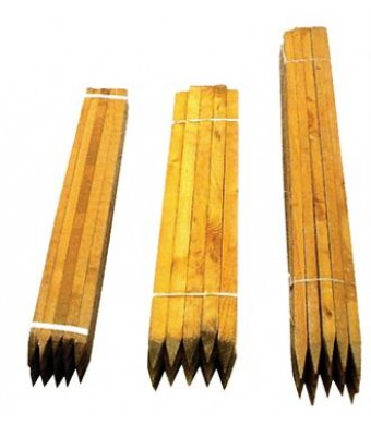 Square sawn softwood stakes